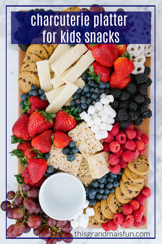 This Charcuterie Platter for Kids snacks is such a great idea because it is so flexible. Choose things that your kids would like and include items that you already have on hand.