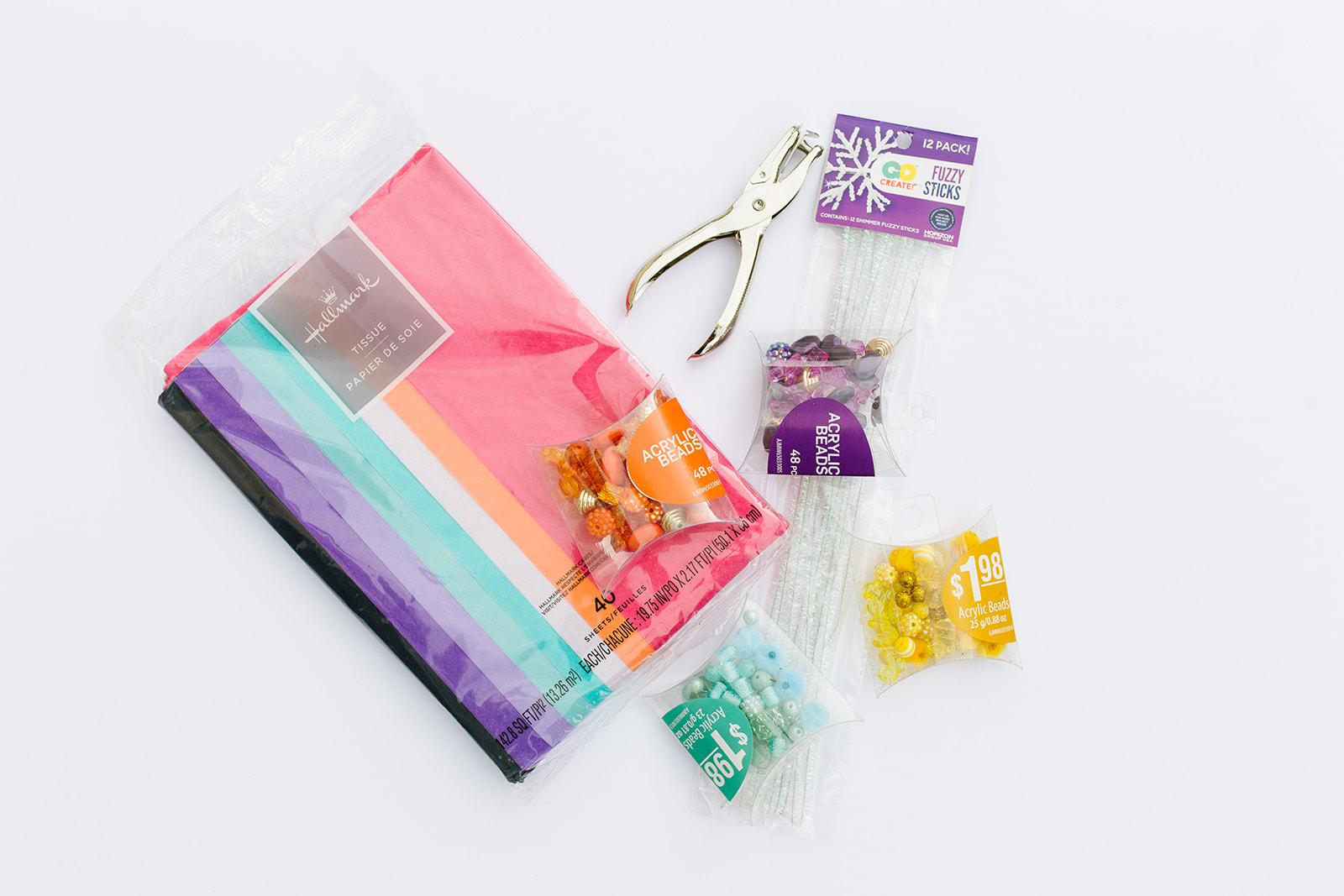 Tissue Paper Flower Bracelets