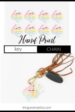 Handprint Key Chain