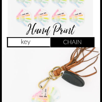 Handprint Key Chain Craft