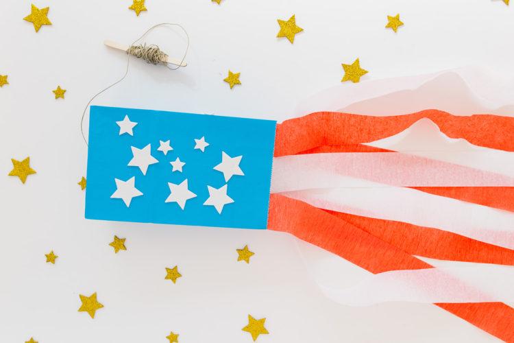 Paper Bag Flag Kite