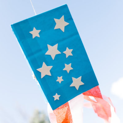 Paper Bag Flag Kite