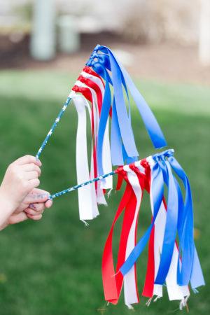 4th of July Ribbon Wand