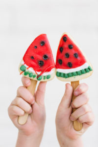 Watermelon Cookies on a stick