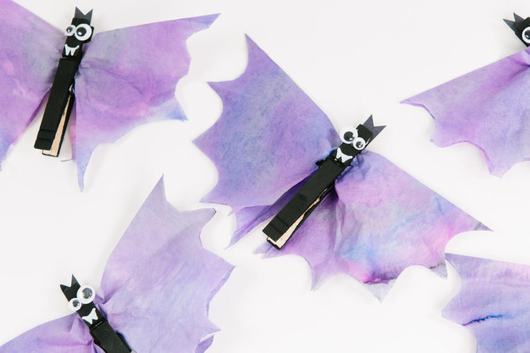Coffee Filter Halloween Bats