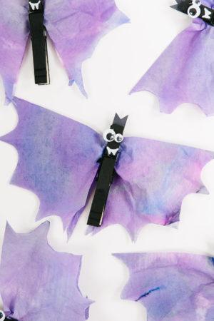 Coffee Filter Halloween Bats