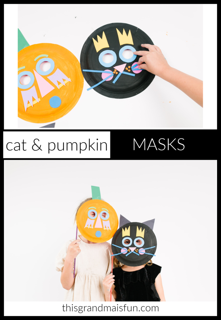 Cat and Pumpkin Halloween Masks
