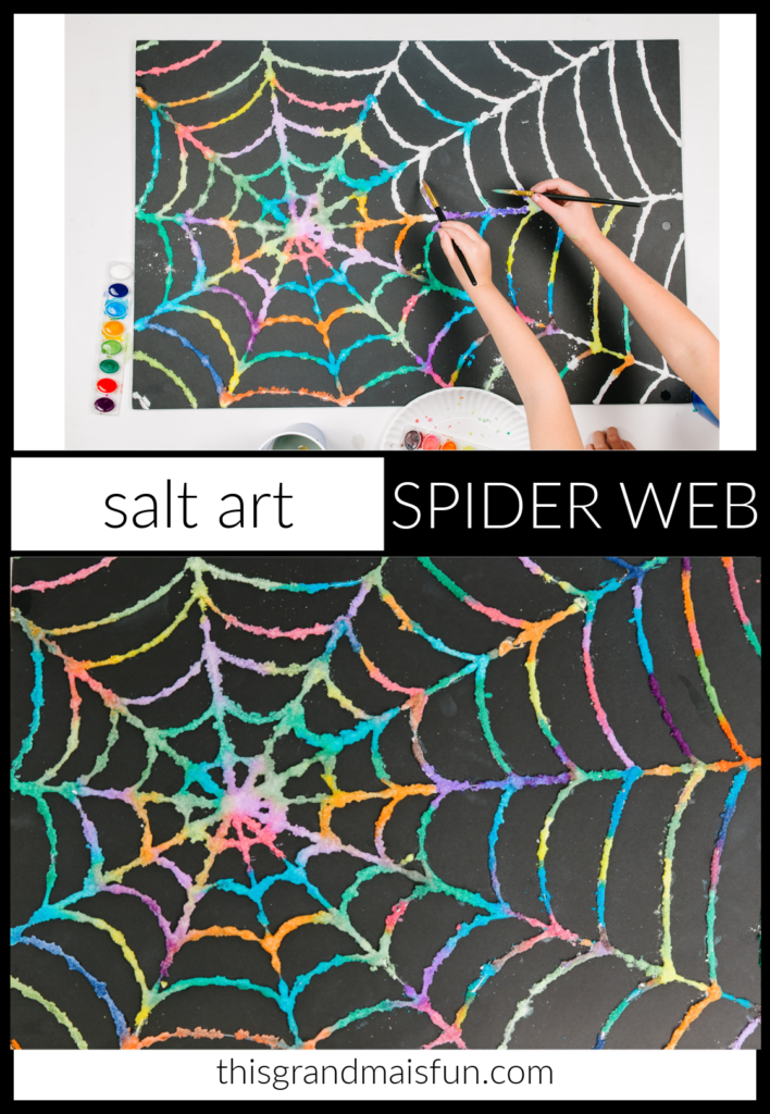 Salt Art Spider Web Craft