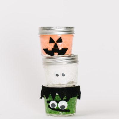 Halloween Slime Jars