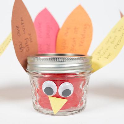 Mason Jar Turkey Favors