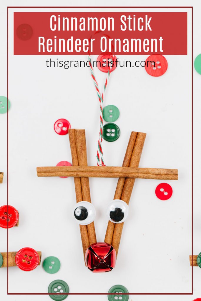 Cinnamon Stick Reindeer Ornament