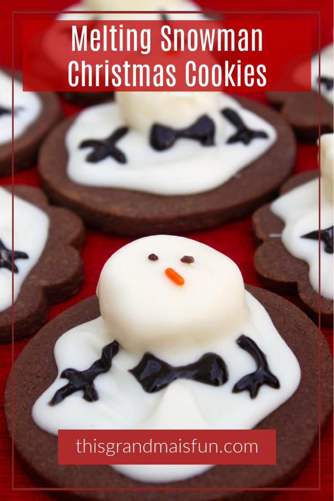Melting Snowman Christmas Cookies