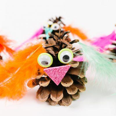 Pine Cone Owl Craft