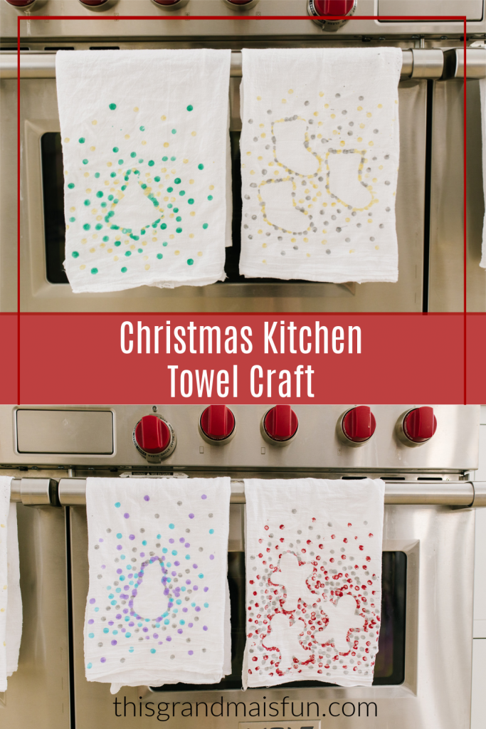 Christmas Kitchen Towel Craft