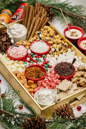 With a myriad of goodies, kids LOVE to make their own Hot Chocolate Charcuterie Board. And adults love them too!
