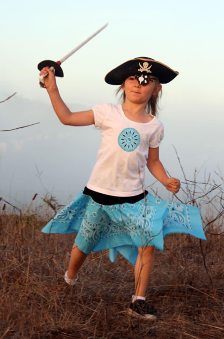 Pirate Bandana Skirt Costume