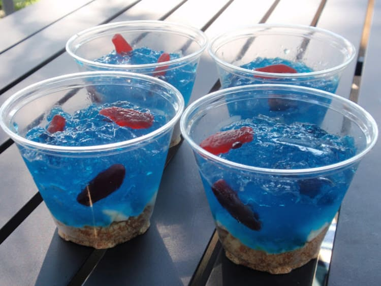 Jell-O Fish Bowls Pirate Idea