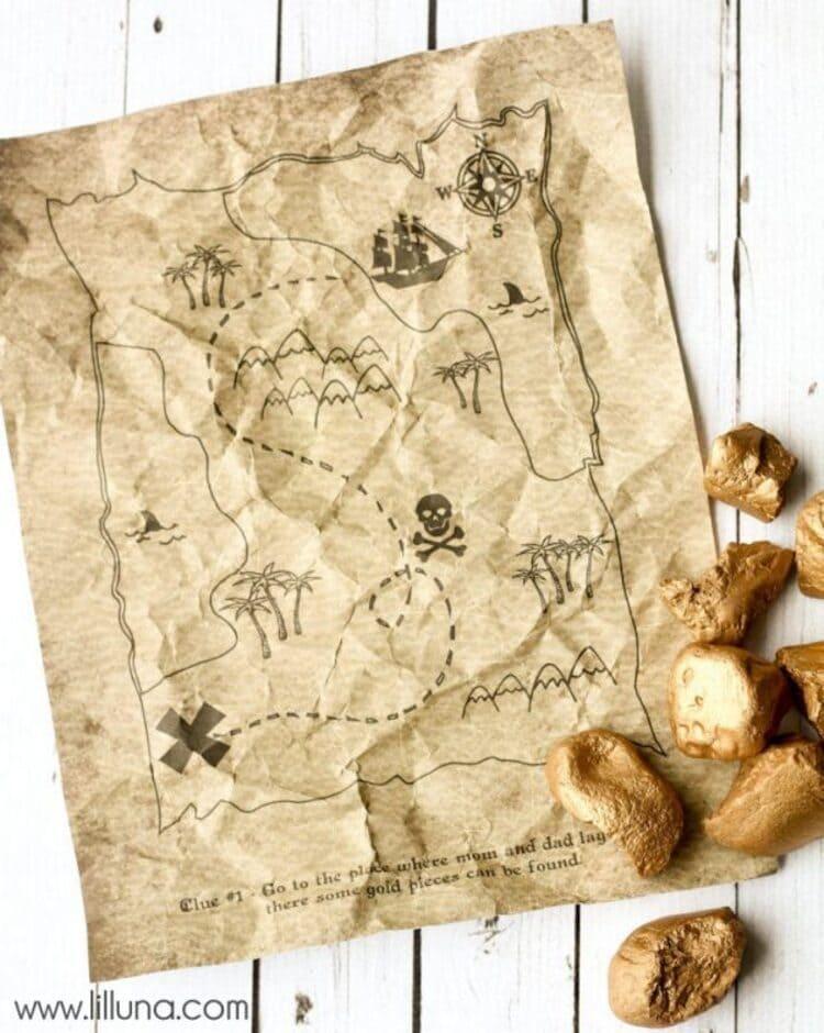 Printable Pirates Treasure Hunt Map