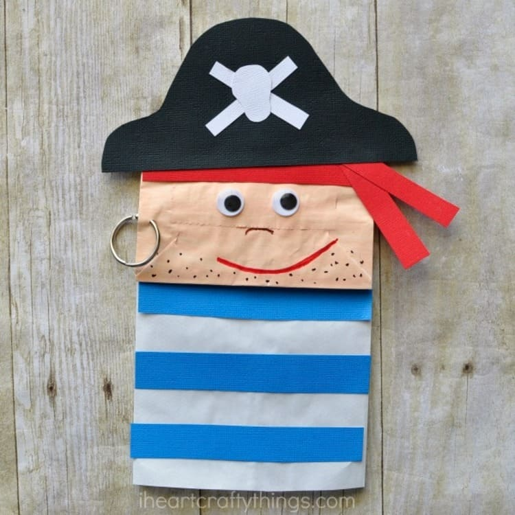 Crafted Paper Bag Pirate