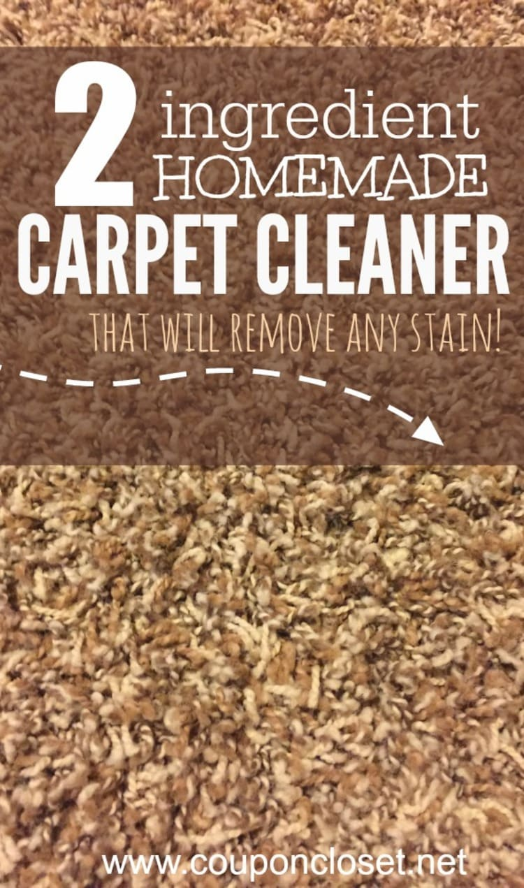 hydrogen peroxide carpet cleaner in a brown color