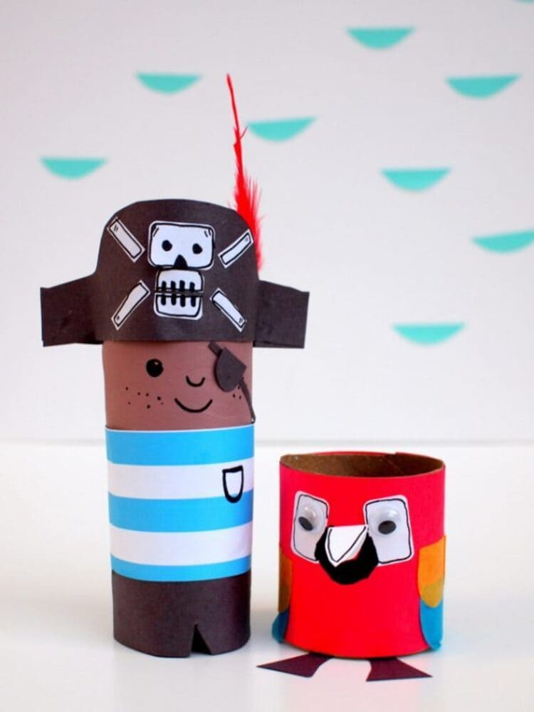 Crafted Tissue Roll Pirate