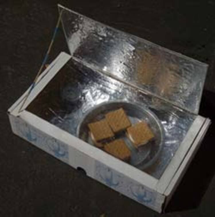 science project solar power s mores in a box